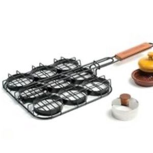 Grill Companion Mini Burger Grill Kit Set NWT